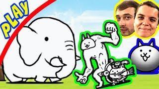 БолтушкА и ПРоХоДиМеЦ Нашли ОГРОМНОГО СЛОНА! #221 Игра для Детей - The Battle Cats