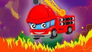 Машинки мультики   Пожарные #машины все серии подряд! Топ видео игры и песенки для детей