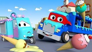 Фургон мороженое - Трансформер Карл в Автомобильный Город