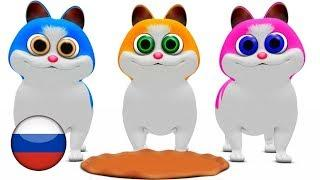 Три котёнка | детские стишки | Детские песни | мультфильмы для детей | Little Treehouse
