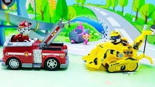 Видео с игрушками Щенячий Патруль новые серии - Грязнуля! Развивающий мультик ПРО МАШИНКИ для детей