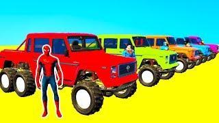 Цветные Машинки для детей Мультики про Супергерои и Машинки Мультик Анимация для Малышей
