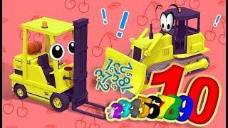 МАШИНКИ. Учим цифры. Спецтехника Мультики про машинки НОВЫЕ СЕРИИ. Развивающие мультфильмы для детей