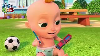 Джонни Джонни Да Папа - Игра для детей - Мультфильмы для детей - Детские детские песни  N 255