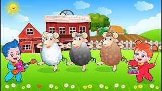 Baa Baa Черная Овца И Фермер В Dell! Популярные Детские Песни Мультфильмы Солнца И Луны