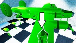 СОЛДАТИК НА КРЫШЕ САМОЛЕТА - Attack on Toys Игра про игрушки. Война игрушек солдатиков