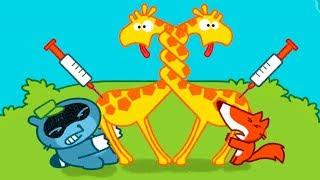 СПАСАЕМ зверей в ЗООПАРКЕ СМЕШНЫЕ ЖИВОТНЫЕ #мультфильмы для детей мультики про зверят для малышей