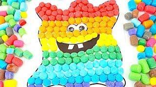 Учим цвета радуги с волшебной кукурузой  Развивающее видео для малышей  Детский канал