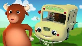 Колеса на автобусе идут | Питомники для детей | Детские песни | Children Songs | Wheels on The Bus