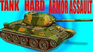 TANK HARD ARMOR ASSAULT как Armored aces онлайн игра Видео для детей много видов танков прокачки