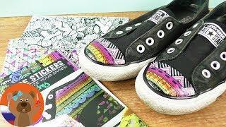 Стикеры для обуви Новая жизнь старым кедам DIY эксперимент