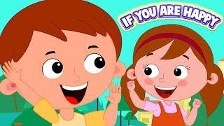 если вы счастливы | детские песни | If You Are Happy | Zebra Russia | русский мультфильмы для детей
