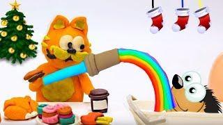 Кот Барбос и проглот Валера ! Анимационные мультики про кота. Развивающие Мультики для детей 5 лет