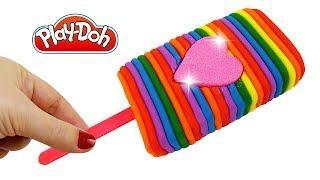 Пластилин Play-Doh Лепим мороженое как радуга и Учим цвета Поделки из пластилина Плей До
