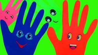 Учим цвета с веселой песенкой Сборник для малышей Ручки из Пластилин Плей до Поем Песню про пальчики