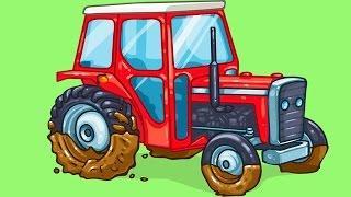 Мультфильмы для детей - Трактор Павлик, Грузовик и Монстр Трак | Детские мультики про машинки