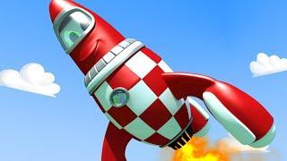Эвакуатор Том - Ракета РОКИ врезался в здание! - Автомобильный Город