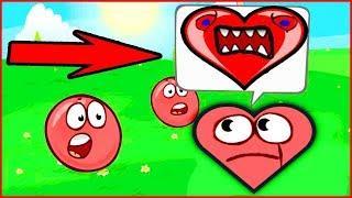 БОСС ВЛЮБИЛСЯ И СТАЛ КРАСНЫМ СЕРДЕЧКОМ  в  игре красный шарик  для детей про New Red Ball 4