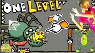 ПОБЕГ ИЗ ТЮРЬМЫ в Игре One LEVEL 2 #8 СТИКМАН Stickman Escape Prison! Детский ЛеТсплей Папа Дочка