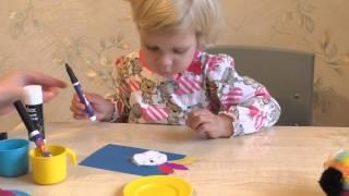 Птичка (птица). Аппликация. Поделка из цветной бумаги своими руками для детей 2 – 3 лет.