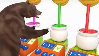 Медведь Узнать Цвета И Узнать Номер С Улей Детские Песни Детские Рифмы Для Детей