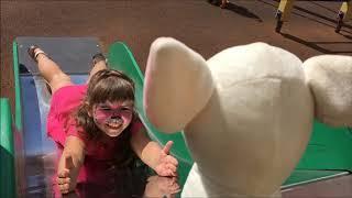 Гуляем на детской площадке с собачками  Видео для детей