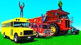 Цветные Машинки для Детей Пожарная и Полицейская Машина Скорая Помощь Мультики про Машинки и Песенки