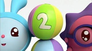 Число 2 - МАЛЫШАРИКИ: Умные песенки - Развивающие и обучающие мультики для детей и малышей