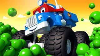 Детские мультики с грузовиками - Грузовик ПРУЖИНА - Трансформер Карл в Автомобильный Город