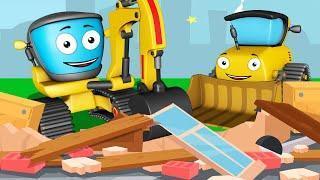 Мультики про Машинки для Детей! Экскаватор Бульдозер Рабочие Машины в Городе Все Серии Подряд