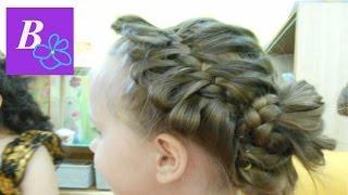 Детские причёски В детском саду выпускной