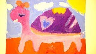 А вы умеете так рисовать ? Мои детские работы красками. Мое творчество
