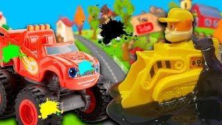 Мультики для детей – Стройка! Мультфильмы про машинки Щенячий Патруль и Вспыш и Чудо машинки