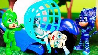 Герои в масках мультик с игрушками для детей. детские мультики с игрушками про машинки
