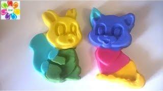 Видео для детей Поделки из пластилина Плей До Учим цвета с пластилином  и формочками