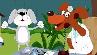 Пять маленьких щенков | детские песни | Детские мультфильмы | Five Little Puppies Rhyme