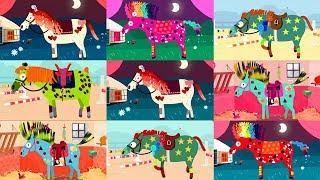 Развивающие мультики про лошадь. Украшаем лошадку у цирк. Мультфильм про лошадь.