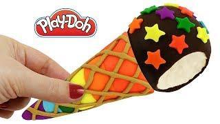Пластилин Плей До Лепим мороженое Учим цвета Поделки из пластилина Play Doh для детей своими рукам