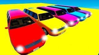Мультики про Машинки Цветные Лимузины Учим Цвета для Детей и Песенки для Малышей