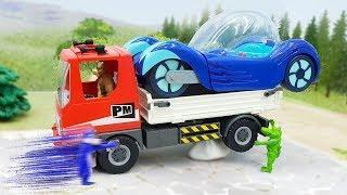 Мультики с игрушками Герои в масках новые серии - За колбасу!Самые новые видео для детей про машинки