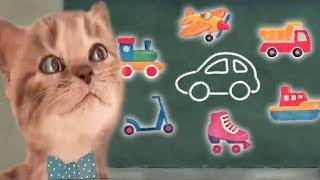Маленький Котенок пошел в Школу. НОВЫЙ Мультик для детей. Развивающий мультфильм