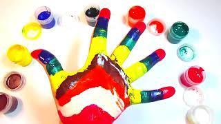 Сборник Учим цвета Learn colors Песня про цвета Про пальчики Учимся Рисовать на руке Семья пальчиков