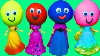Шарики Учим цвета Развивающий мультик Куклы Принцессы Диснея Шарики из Пластилина Песня про шарики #