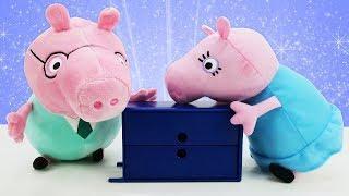 Мультики для детей про Свинку Пеппу и игрушки из мультфильмов. Пеппа и Джордж помирили родителей