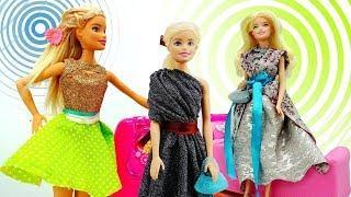НОВЫЙ СБОРНИК мультики Барби: шьем ПЛАТЬЯ и АКСЕССУАРЫ для Барби своими руками! Мастерская #Барби