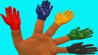 Ручки на пальчиках Learn colors Учим цвета Учимся рисовать Песня про пальчики Пальчик где же ты