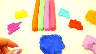 Учим цвета Лепим из Пластилина Плей до Play Doh Машинки Развивающее видео Для детей Сборник Плей до