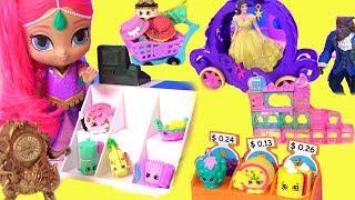 Disney Princess Shopping ПРИНЦЕССЫ ДИСНЕЯ! ИГРАЕМ В МАГАЗИН С #КРАСАВИЦА И ЧУДОВИЩЕ! Видео для Детей