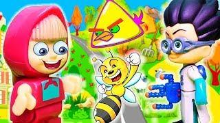 Маша и Медведь - Все серии подряд - Мультики с игрушками для детей 2018