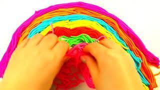 Сборник Учим цвета с пластилином Плей до Play Doh Радуга из пластилина Формы и Шприцы для